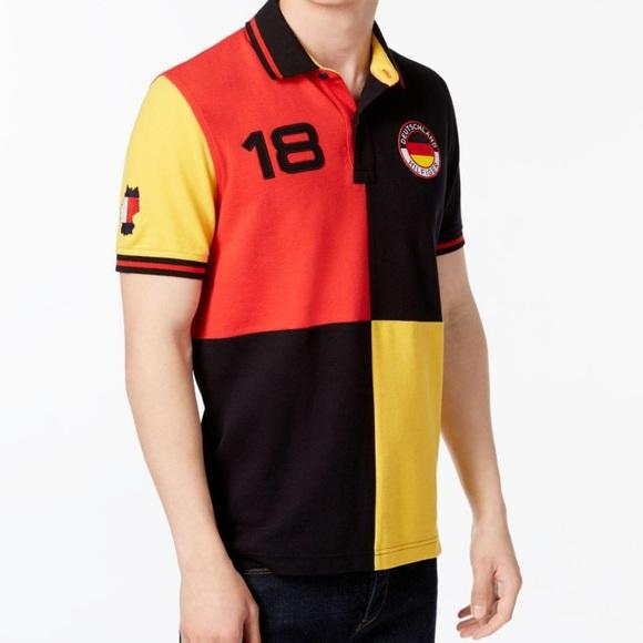 3e8a938f Tommy Hilfiger Shirts | Germany Polo Shirt Mens Sz Large | Poshmark